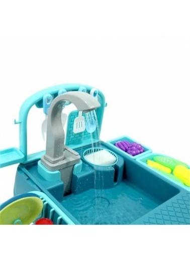 Mashotrend Erkek Oyuncak Bulaşık Yıkama Seti - Modern Çeşmeli Lavabo Oyun Seti - Erkek Mutfak Seti Renkli